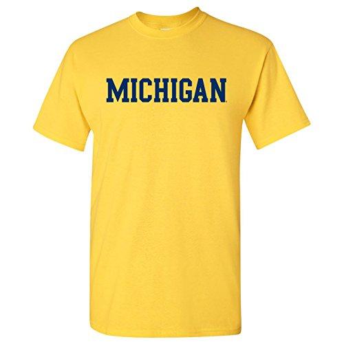 AS01 - Michigan Wolverines Basic Block T-Shirt - 2X-Large - Maize