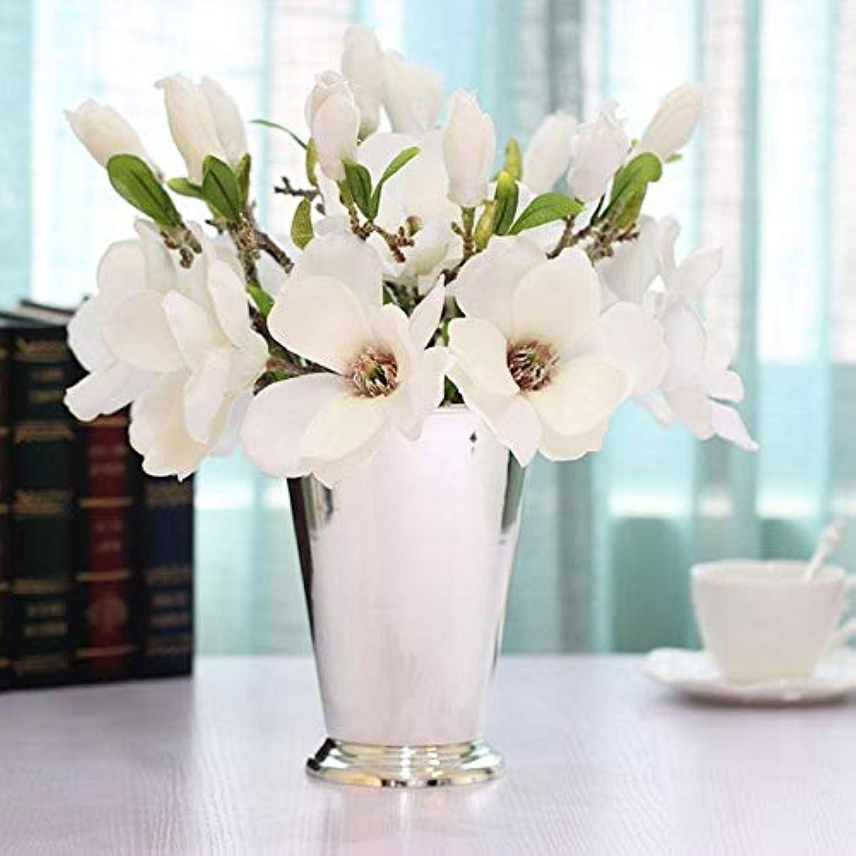 SHFives Européen en Métal Plaqué Argent De Bureau Vase Creative Home Décoration Salon Décoration De Mariage Cadeau, Paquet d'argent 1