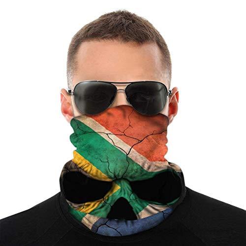 TGSCBN Distressed Australian Flag Skull Face Tube Field Neck Gaiter Sun Shade Scarf Bandana