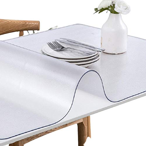 PVC Tablecloth Transparent Table ClothCover Oilproof Table Cloths Dining Table Cover Soft Glass Cloth Kitchen 1.0mm-Frosted_Pattern_60X150cm_