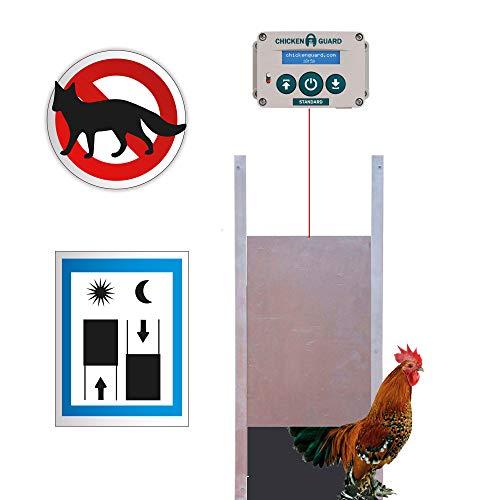 pequeño y compacto Puerta de gallinero estándar FINCA CASAREJO – apertura y cierre controlados por tiempo – motor…