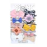 Yuanshenortey 12 Stück Elastische Nylonschleifen Stirnbänder Mädchen Stirnband Zubehör Für Neugeborene, Kleinkinder, Kleinkinder