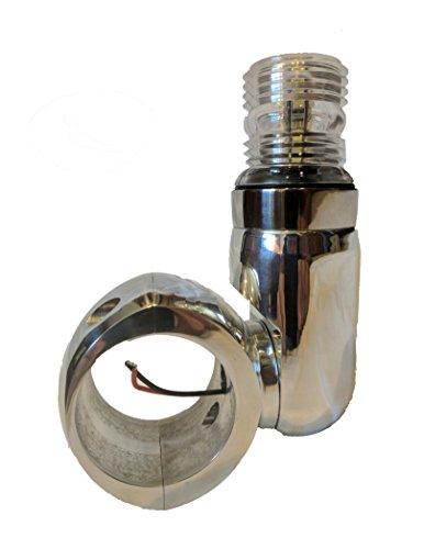 Krypt Wakeboard Tower Navigation Light, 360 Degree LED Navi Light, 6061 Polished Aluminum, Clamp Sizes: 1 3/4', 1 7/8', 2', 2 1/4', 2 3/8', 2 1/2'