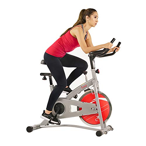 Sunny Health & Fitness Indoor Cycling Stationary Exercise Spin Bike with LCD Digital Display, 30 LB Flywheel - SF-B1421
