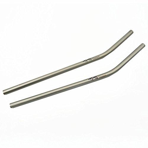 Pajita de titanio, marca TiTo; fuerte y ultraligera, con cep