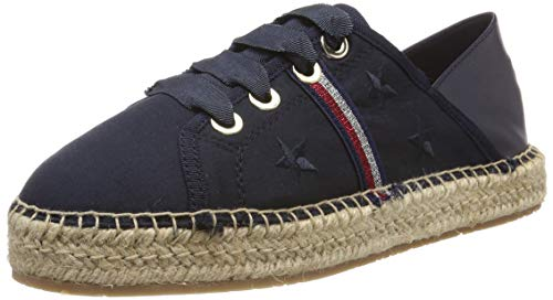 Tommy Hilfiger Flat Corporate Ribbon espadrilles voor dames