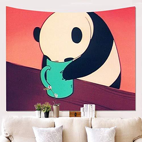 Tapiz De Microfibra De Panda Adecuado para Dormitorio, Hotel, Manta De Decoración De Pared De Villa Tapiz Multifuncional