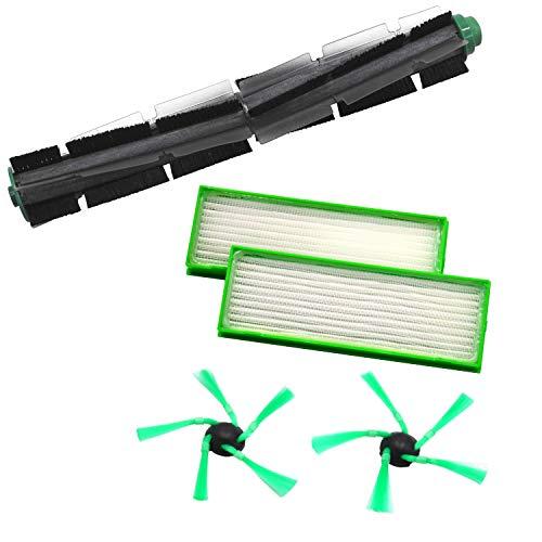 1 Rundbürste 2 Seitenbürsten 2 Filter geeignet für Vorwerk VR200 VR300 VR 200 300