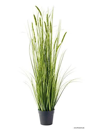 Klocke Kunstpflanzen Maceta de Plantas Artificiales decoración en Maceta, Preciosa y Realista, Hierba, arbusto, Hierba Artificial.