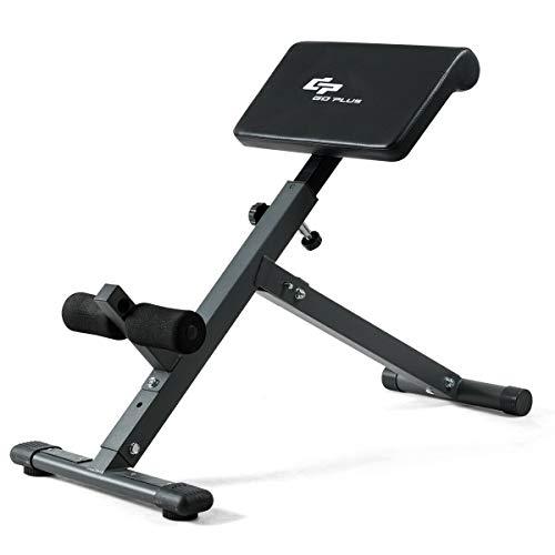 Goplus Adjustable AB Bench Hyperextension Exercise Abdominal Roman Chair