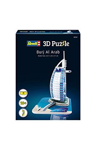Revell 3D Puzzle 00202 Burj Al Arab - das berühmte Luxushotel in Dubai Die Welt in 3D entdecken, Bastelspass für Jung und Alt, farbig