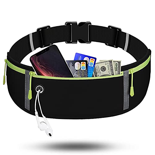 RDMODO Running Belt Waist Pack Bag Sports, Running Fanny Pack for Phone Waterproof Plus Size Bounce Free Pouch Bag, Running Waist Belt Phone Holder for iPhone 11 Xr Xs 8 7 Plus Samsung Galaxy Note