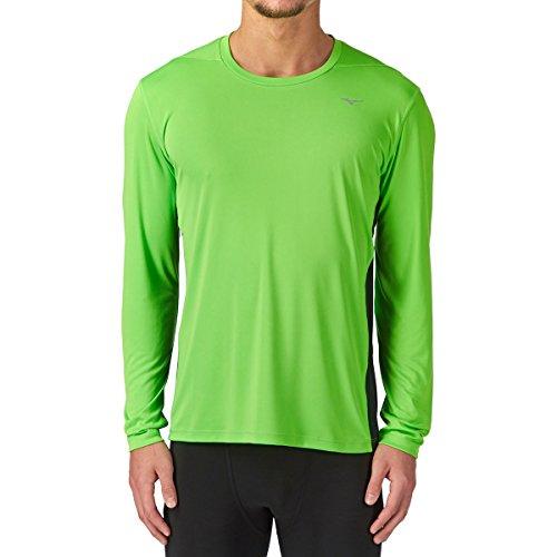 Mizuno DryLite Core Manches Longues T-Shirt Course à Pied - S