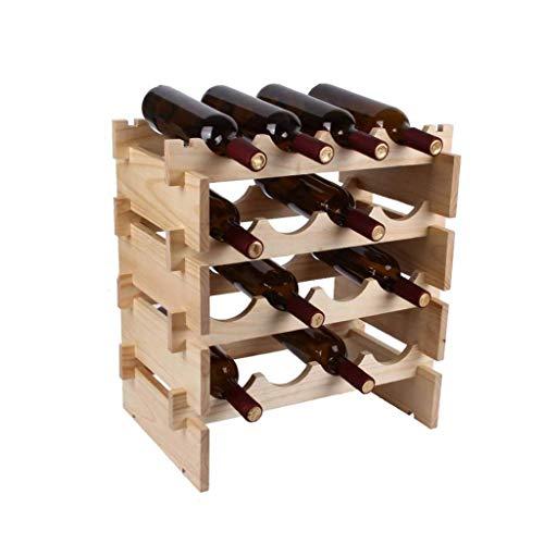 Estantes para Vino Estante para Vino Cubo De Madera Apilable para Vino, De Pie, Horizontal, Estante para Botellas, Soporte para Botellas, Soporte para Vino (Tamaño: XXXL)