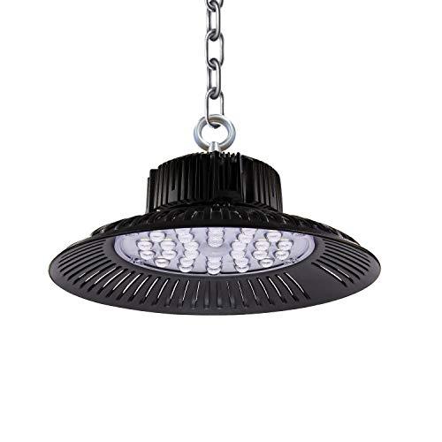 100W LED Strahler Industrielampe, 6000K LED Strahler,UFO Werkstattlampe,10000LM Led Industrielampe LED Strahler Industrieleuchte für Garage Werkstätten und Fabrikhallen. (1*pack, 100W)