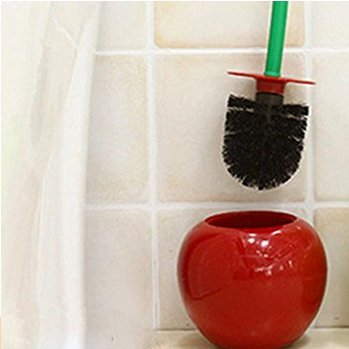 Row_120cc - Escobilla para Inodoro Creativa 1 x Vino Rojo Cereza escobilla para WC escobilla para Necesidades diarias cerdas
