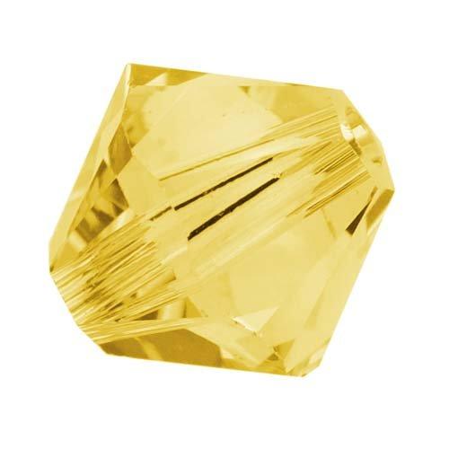 Elementi di cristallo Swarovski # 53286mm bicono Swarovski perline topazio chiaro (20)