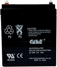 Casil Genuine CA1240 12v 4ah SLA Rechargeable Alarm Battery for ADI Ademco 467, ADT 804302 12v 4.5ah, DSC Security Panel, Power Patrol for SLA1056, Vista 20P ADT, Replacement Battery by Inovel Power
