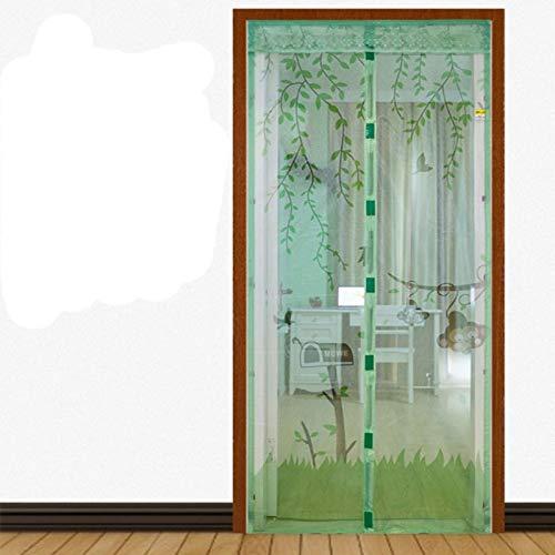 N / A Casa de Verano diseño Fresco Puerta de Pantalla Anti-magnética Cortina Anti-Mosquitos Tul Cierra automáticamente la Puerta Cortina Net A3 W120xH210