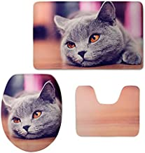 Korean World All for Bathroom Toilet Seat Cover Cat As AUT Print Non-Slip Style Pedestal Rug + Lid Toilet Cover +Bath Mat Commode Holiday Must Haves 5 Year Oboy Gifts The Favourite DVD
