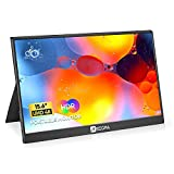 4K Portable Monitor, Arzopa 15.6' 3840×2160 HDR FreeSync 100% SRGB USB C 3.1 HDMI Game External Monitor IPS Eye Care Computer Display w/Dual Speakers & Smart Cover for Laptop PC Phone Xbox PS5 Switch