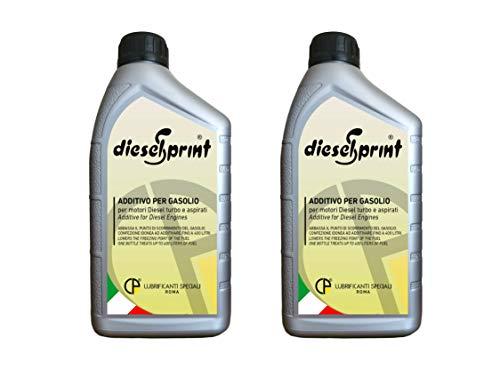 2 LITROS (2 botellas de 1000 ml) DIESELSPRINT aditivo multifuncional para motores Diesel