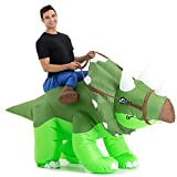 Inflatable Dinosaur Costume Adult Men Women, Inflatable Blow Up Costume Riding Triceratops Dinosaur Costume Youth, Inflatable Ride On Dinosaur Halloween Costume Teen