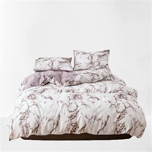 CCBAO Ropa De Cama Textiles para El Hogar Funda Nórdica con Patrón De Mármol Liso Ambiente Simple Eleganteduradero Y Fácil De Limpiar 230x260cm