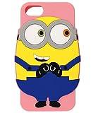 SIX Funda para iPhone 6/7/8, diseño de Minions, color rosa