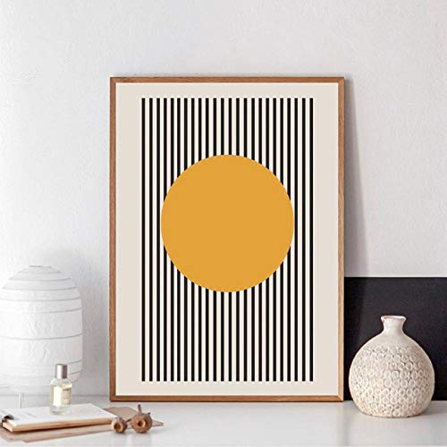 VVSUN Exposición de la Bauhaus Póster geométrico único Impresión de Lienzo de Arte Minimalista Pintura Abstracta Cuadro de Pared para la decoración del hogar de la Sala de Estar,50x70cm(sin Marco)