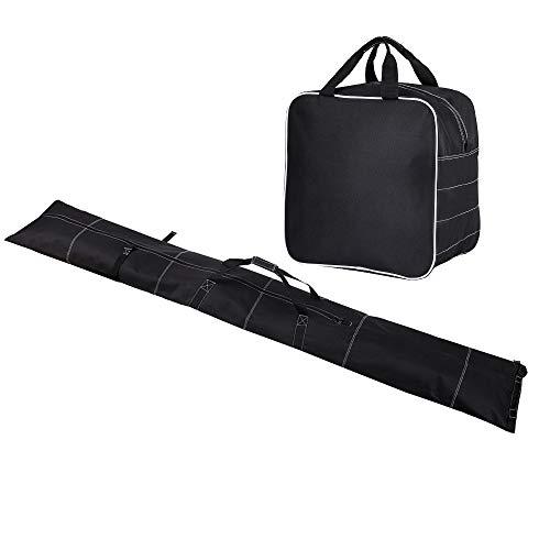 Redheart Skitasche und Skischuhtasche Kombi Set - Für Skier bis 190 cm, Skibag Set