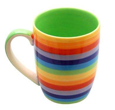 Windhorse céramique à ARC-Tasse à café/thé-Boucles d'oreille anneaux créoles de hauteur)