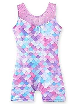 Leotards for Girls Gymnastics Mermaid 4t 5t Athletic Dance Wear Biketard  Mermaid Purple 4-5T