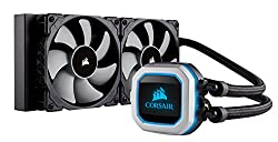 professional Corsair Hydro Series H100i PRO RGB AIO Liquid Cooled CPU, 240 mm Cooler, 120 mm ML Series 2 PWM Fans, Improved RGB Lighting and Software Fan Control, Intel 115x / 2066 and AMD AM4 Compatible
