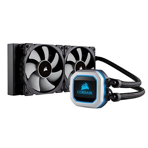 Corsair Hydro H100i Pro RGB, Sistema di Raffreddamento a Liquido, Radiatore da 240 mm, Due Ventole PWM Serie ML da 120 mm, l'Illuminazione RGB, Compatibile con Socket Intel 115x/2066 e AMD AM4