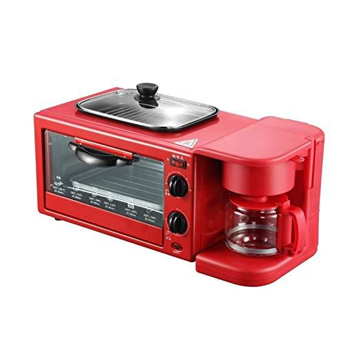 Adesign Máquina de Desayuno a Domicilio Multifuncional Tres en una tostadora Máquina de sándwich Tostadora Horno eléctrico Mini máquina de Desayuno eléctrico Caldera