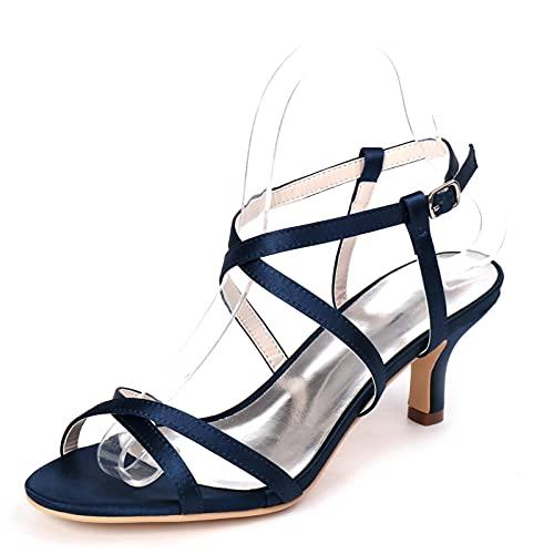 Zapatos De Novia con Tacón De Gatito para Mujer Sandalias De Tacón...