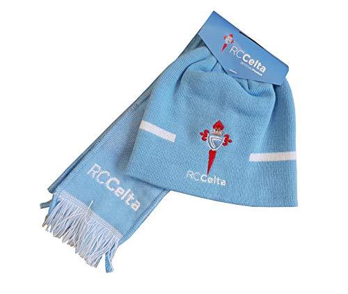 R.C. Celta de Vigo Gorcel Set sjaal + muts, unisex baby lichtblauw, één maat
