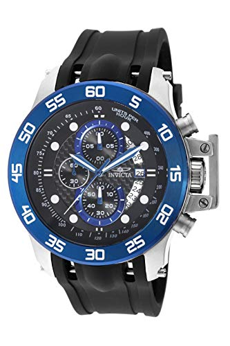 Invicta Men's I-Force 51mm Stainless Steel Chronograph Quartz Watch with Black Polyurethane Band, Black (Model: 19252)