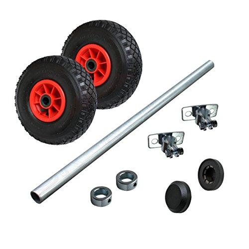 Wagenbau Satz Achse 1000 mm Radsatz mit Luftrad 260mm WB260S4