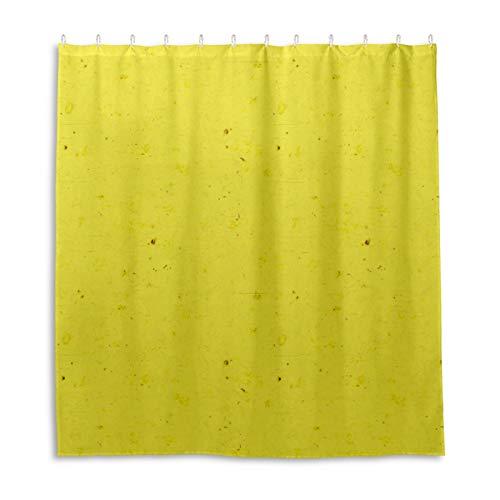 Badezimmer Duschvorhang Banane Gelb Duschvorhänge Haltbarer Stoff Badvorhang Wasserdicht Badezimmer Vorhang mit 12 Haken