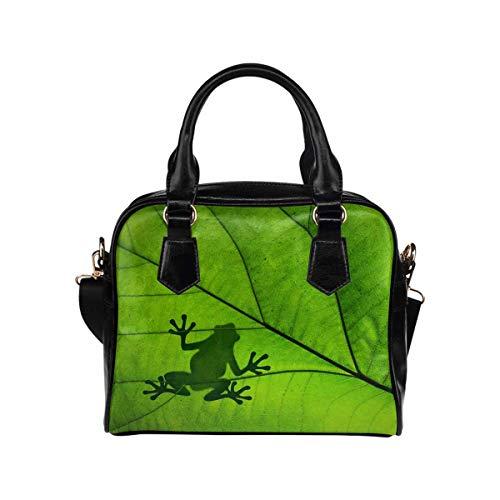Silhouette of a Frog PU Leather Purse Handbags Shoulder Crossbody Bag for Women Girls