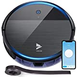Hosome Robot Vacuum Cleaner, Auto Robotic Vacuums Sweep and Mop Cleaning 1900Pa,Super-Thin Suction Quiet, Wi-Fi, Smart Self-Charging Robot Vacuum Cleaner for Pet Hair Hardwood Floor Carpet