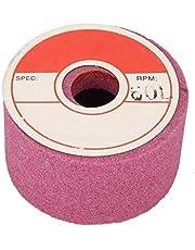 Muela abrasiva de copa de corindón, rueda de pulido funcional Excelente efecto Fácil operación Blanco y rojo para carpintero para desbarbado para pulido de superficies(Chrome corundum 120# (red))