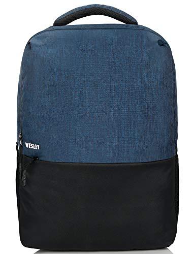 Wesley Milestone 15.6 inch 25 L Casual Waterproof Laptop Backpack/Office Bag/School Bag/College Bag/Business Bag/Unisex Travel Backpack (Blue and Black)