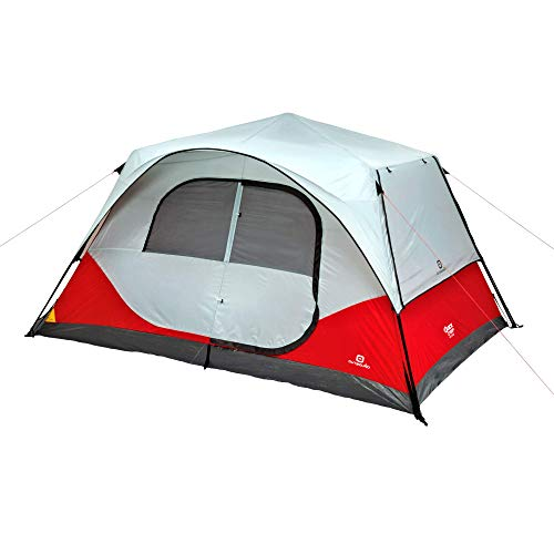 Outbound 8-Person Dome Tent for Camping with Carry Bag and Rainfly | Perfect for Backpacking or The Beach | Cabin Tent, Red
