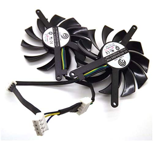 QHXCM 2pcs/Lot for PLD08010S12HH 12V 0.35A 75mm for MSI GTX580 GTX460 GTX560 EVGA GTX560TI Graphics Card Fan