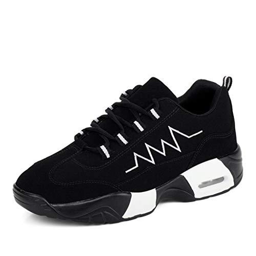Sport Delle vrouwen outdoor gebruik schoenen ademend Strada Sei jogging voor vrije tijd vrije tijd, scholieren met geringe dikte (kleur: zwart, maat: 24)