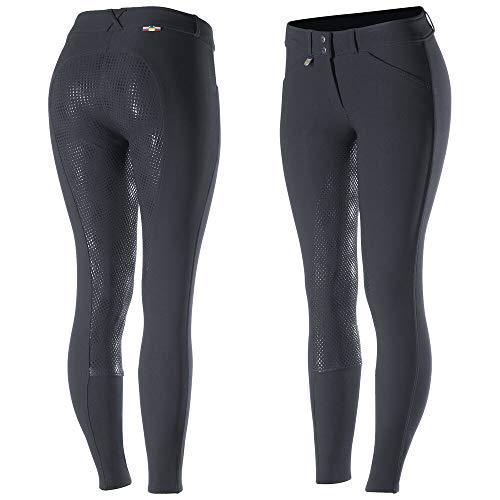 horze, pantaloni da equitazione Grand Prix, con imbottitura posteriore e inserti antiscivolo in silicone, diverse taglie, adatti per donne e bambini, Marineblau (PDB), 34