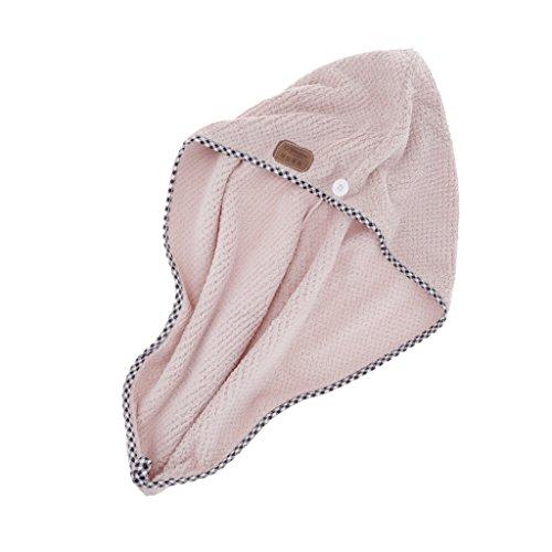 MERIGLARE Turban Dry Shower Enveloppement De Cheveux En Microfibre Spa De Séchage De Serviette - Rose